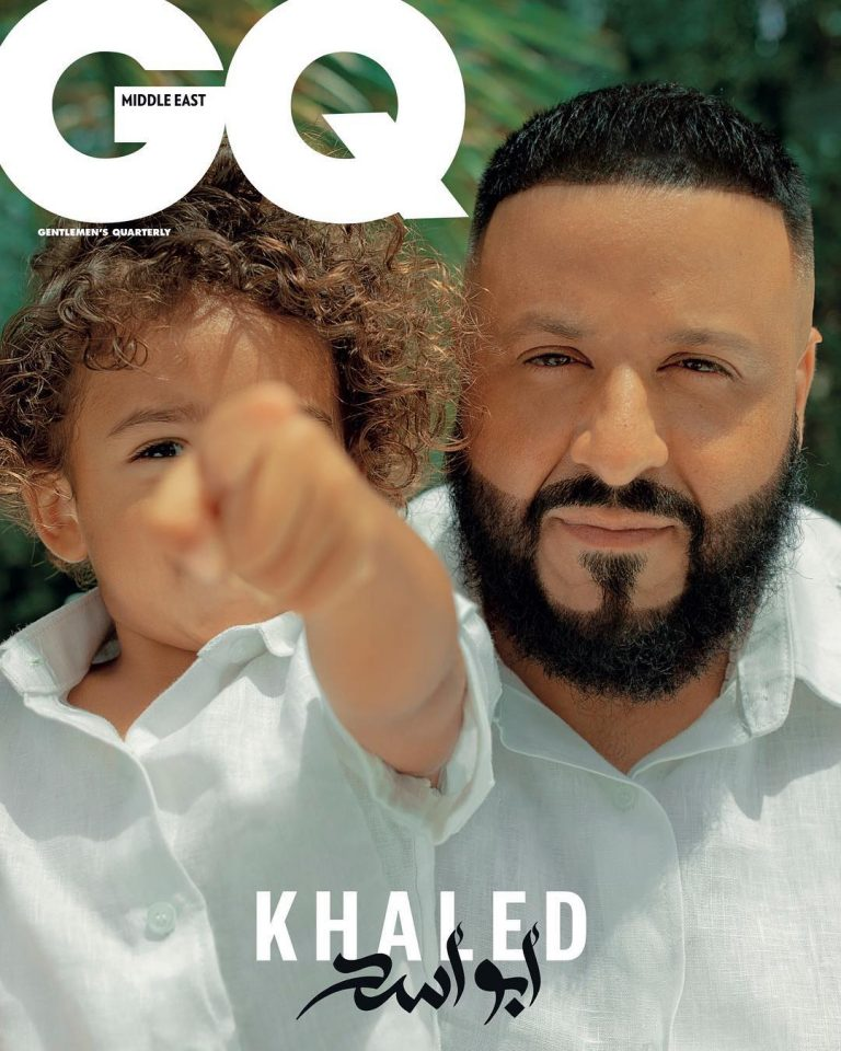 (GIST): Dj Khaled And Son Sturns GQ Magazine Cover