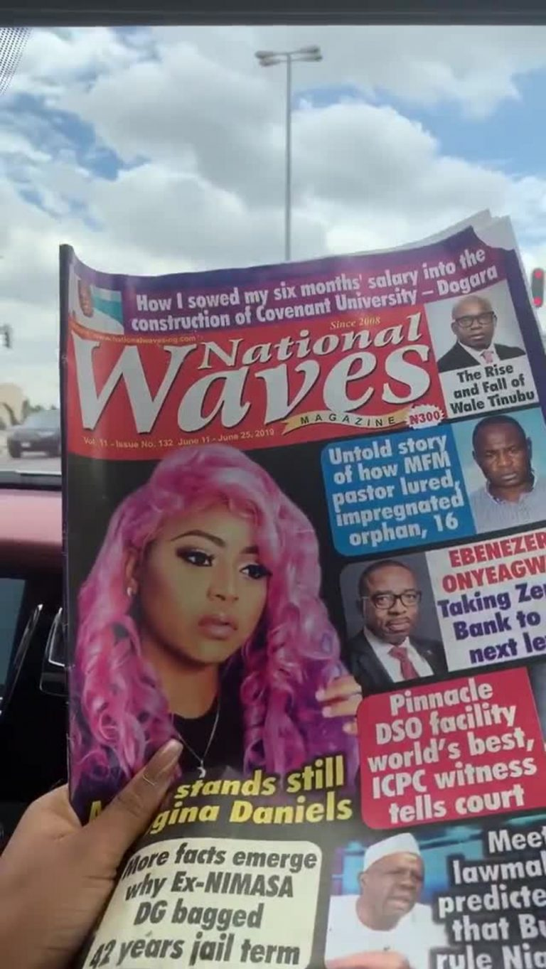 Ned Nwoko Pays A Magazine Seller In Dollars Because Regina's Face Is On It