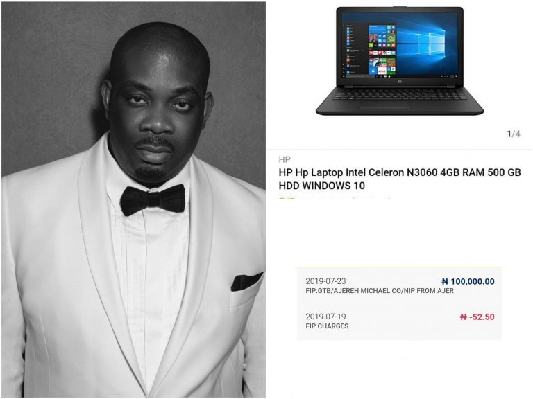 Don Jazzy Sends 100k To A Man Who Says He Needs It To Buy Laptop