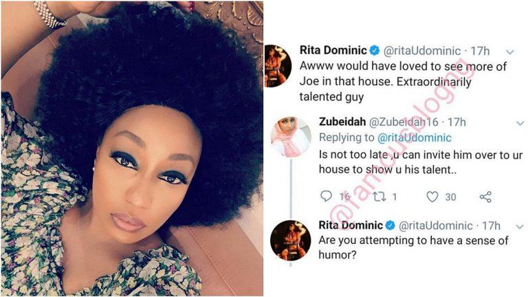 Rita Dominic lashes on a fan who thinks she loves Joe of BBNaija