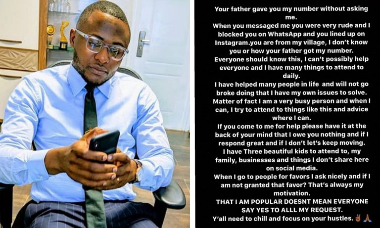I have helped many people in life and won't go broke doing that – Ubi Franklin warns those who ask him for help rudely