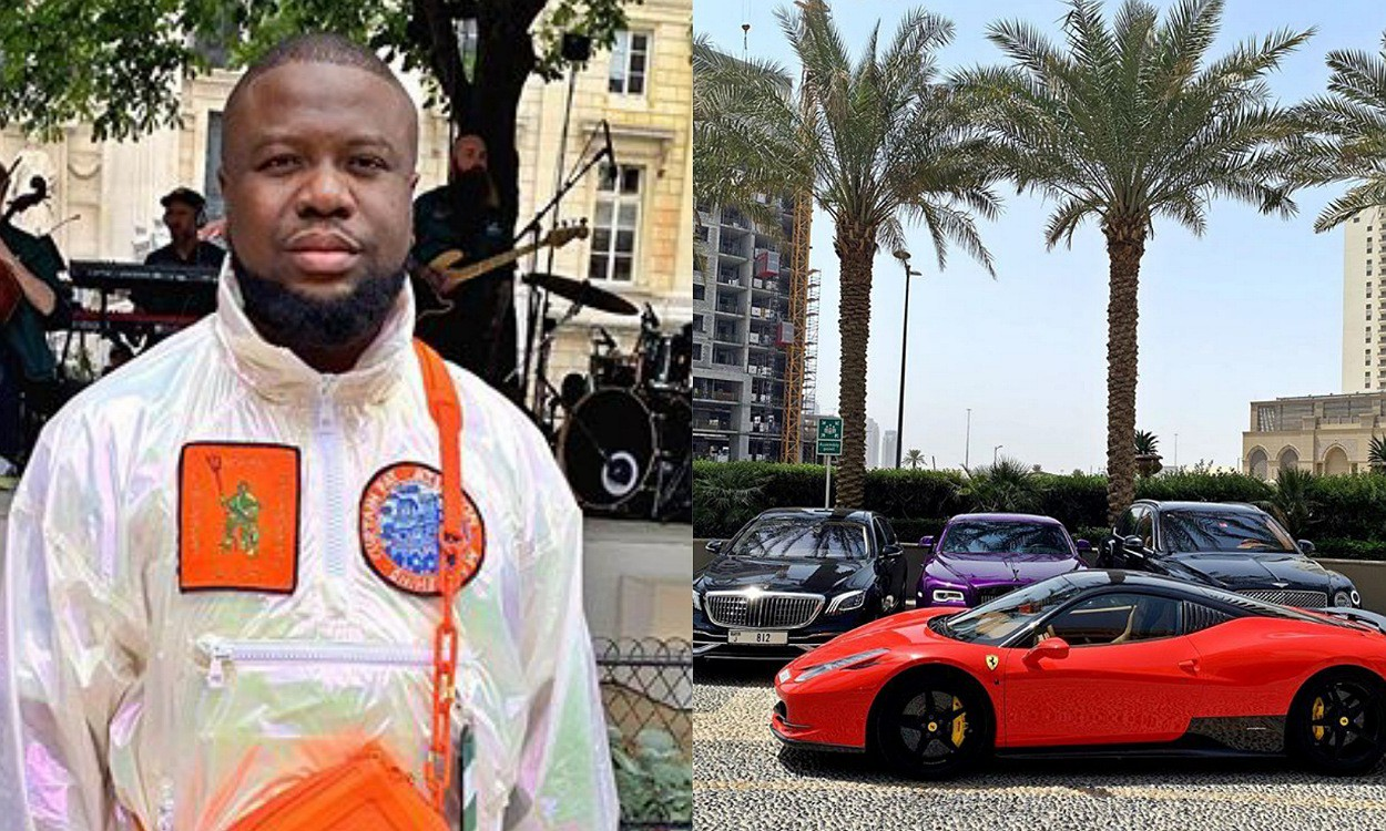 Rich lifestyle: Hushpuppi displays all his rides in a photo and video