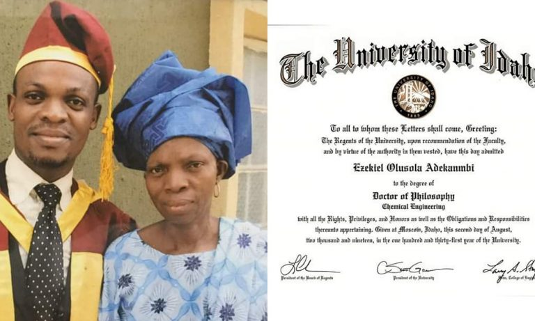 Man narrates how God saved him through her poor mom who trained him till PhD