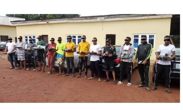 13 suspected Yahoo Boys arrested in Maryland, Enugu