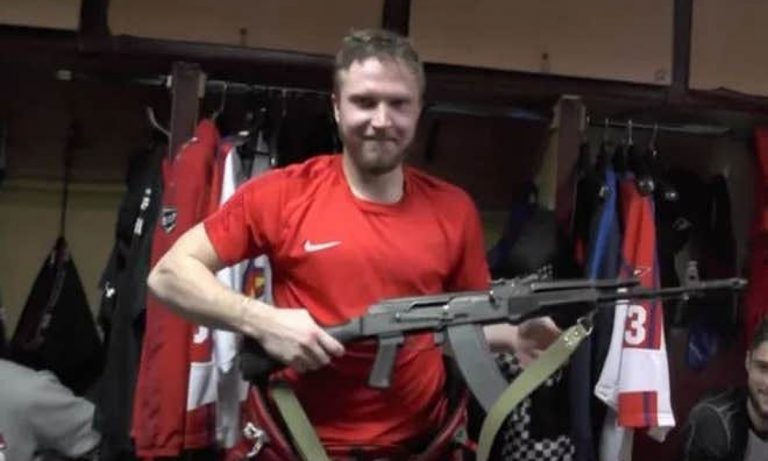 AK-47 awarded to a goalkeeper for his Man of the Match performance