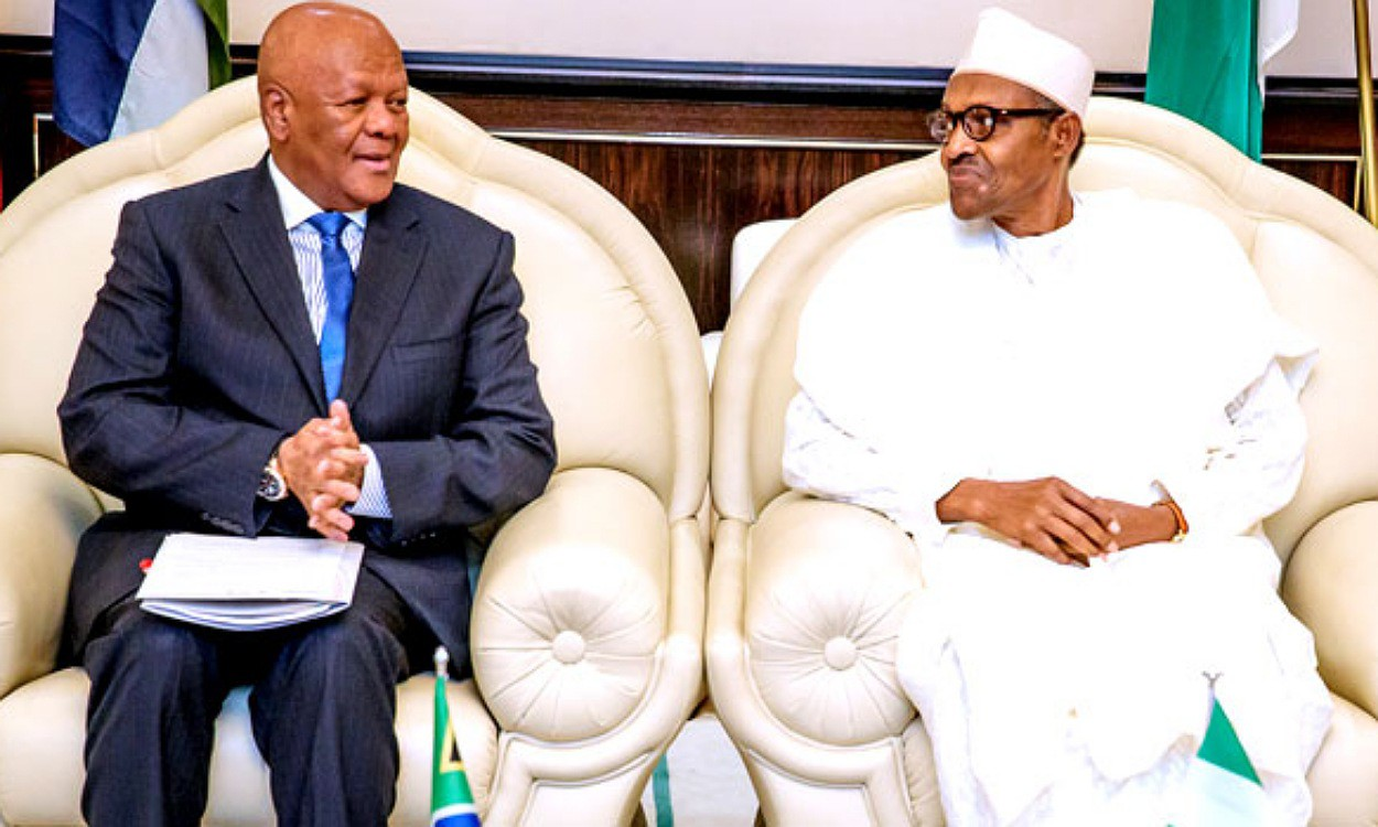 South African special envoy, Mr Jeff Radebe meets with President Buhari