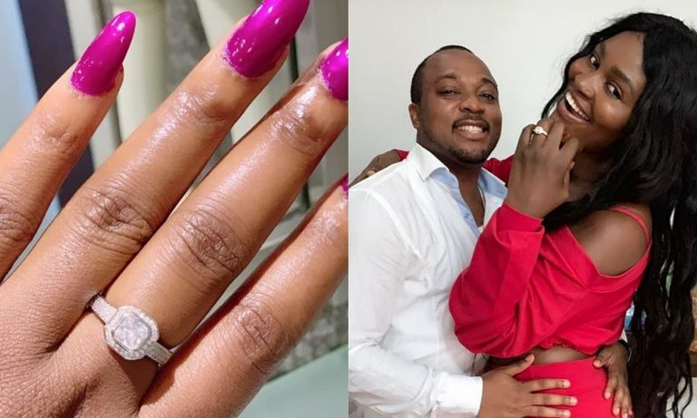 Actress, Chizzy Alichi says YES to her boo