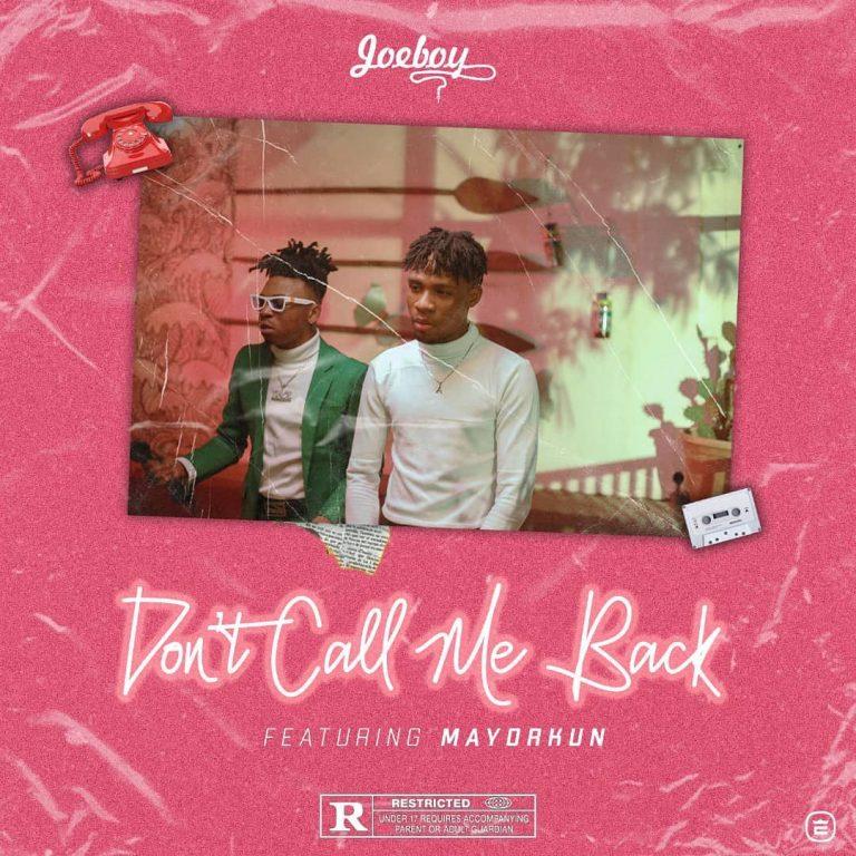Download Instrumental Joeboy – Don't Call Me Back ft. Mayorkun (Prod. By Mykah)