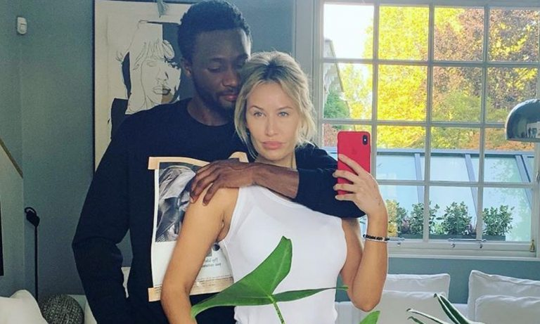 Mikel Obi shuns break up rumours, shares more pictures of him, girlfriend and kids