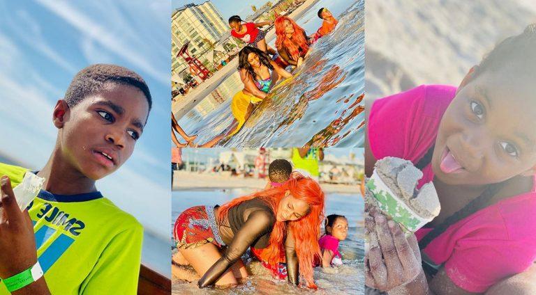 Busola Dakolo shares adorable photos of her family on vacation