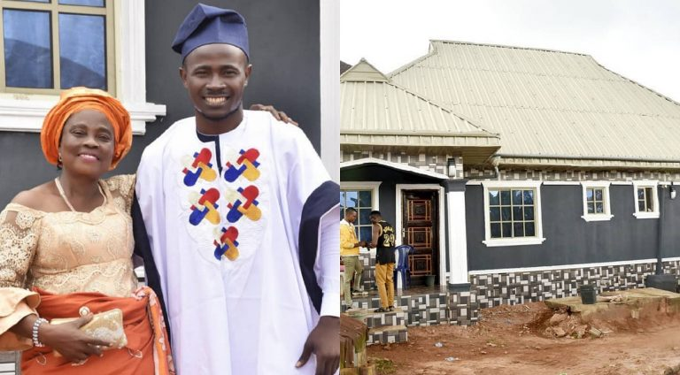 Comedian Gbovo builds house for his mom