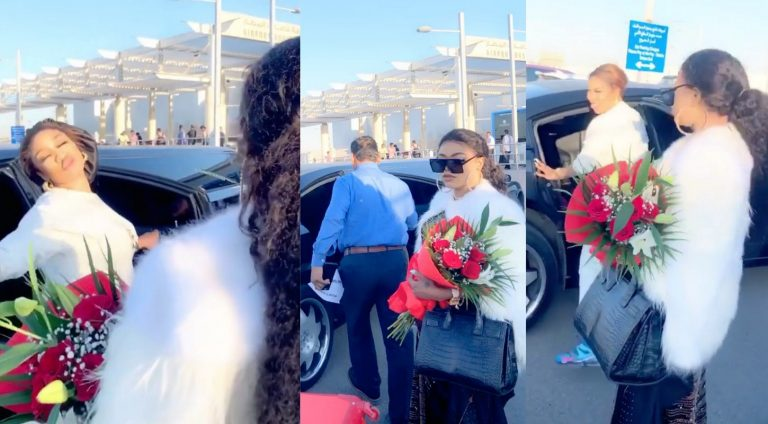 Bobrisky shares video how he and Tonto Dikeh were welcomed in Dubai