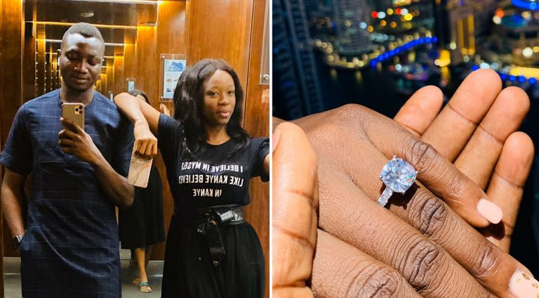 Social media influencer Uncle Pamilerin's girlfriend says YES 11 weeks into relationship