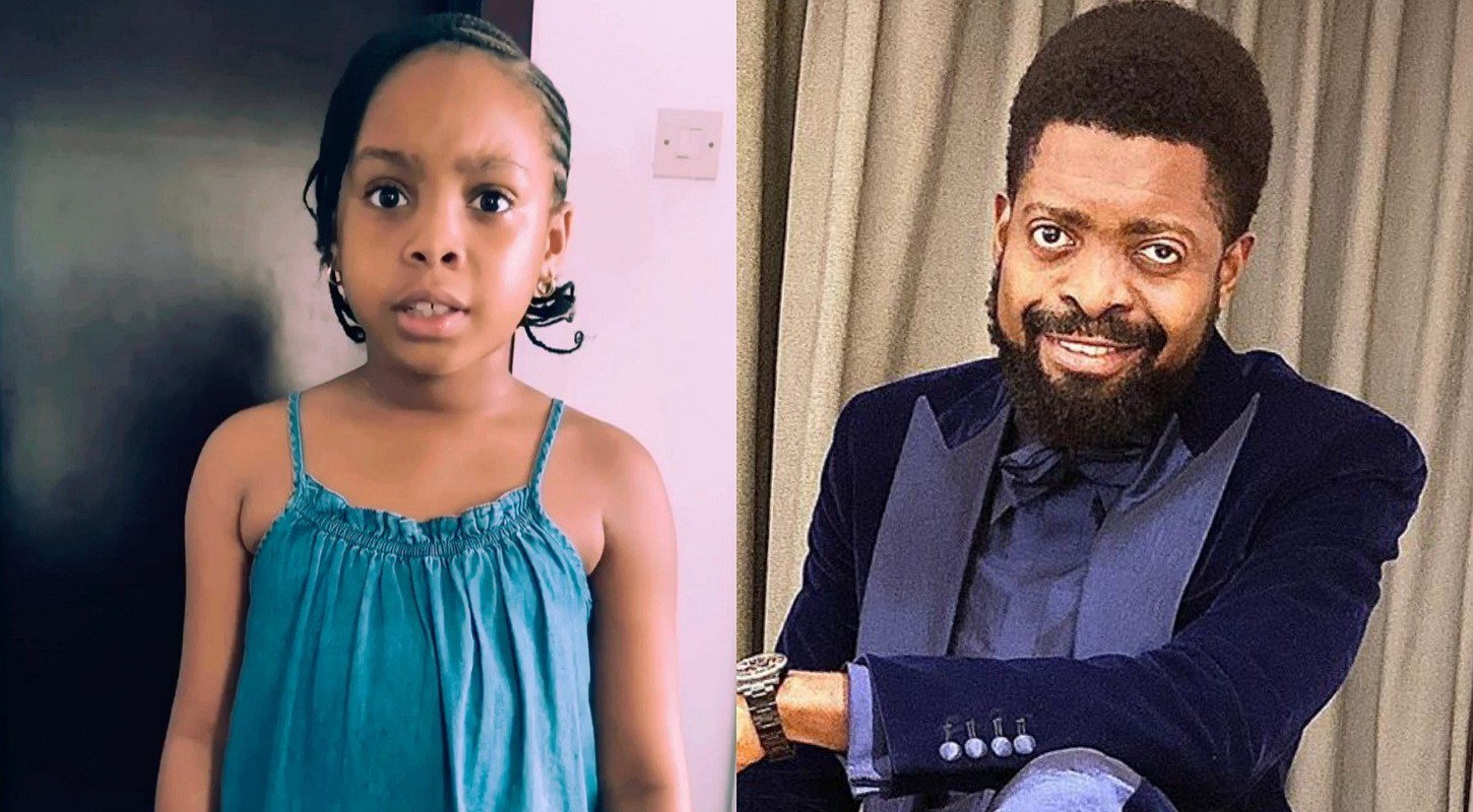 (Video) 7-year old Basketmouth daughter demands for cell phone with 'reasons'