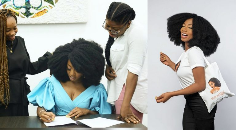Reality star Khafi signs new endorsement with hair brand, Natural Girl Wigs