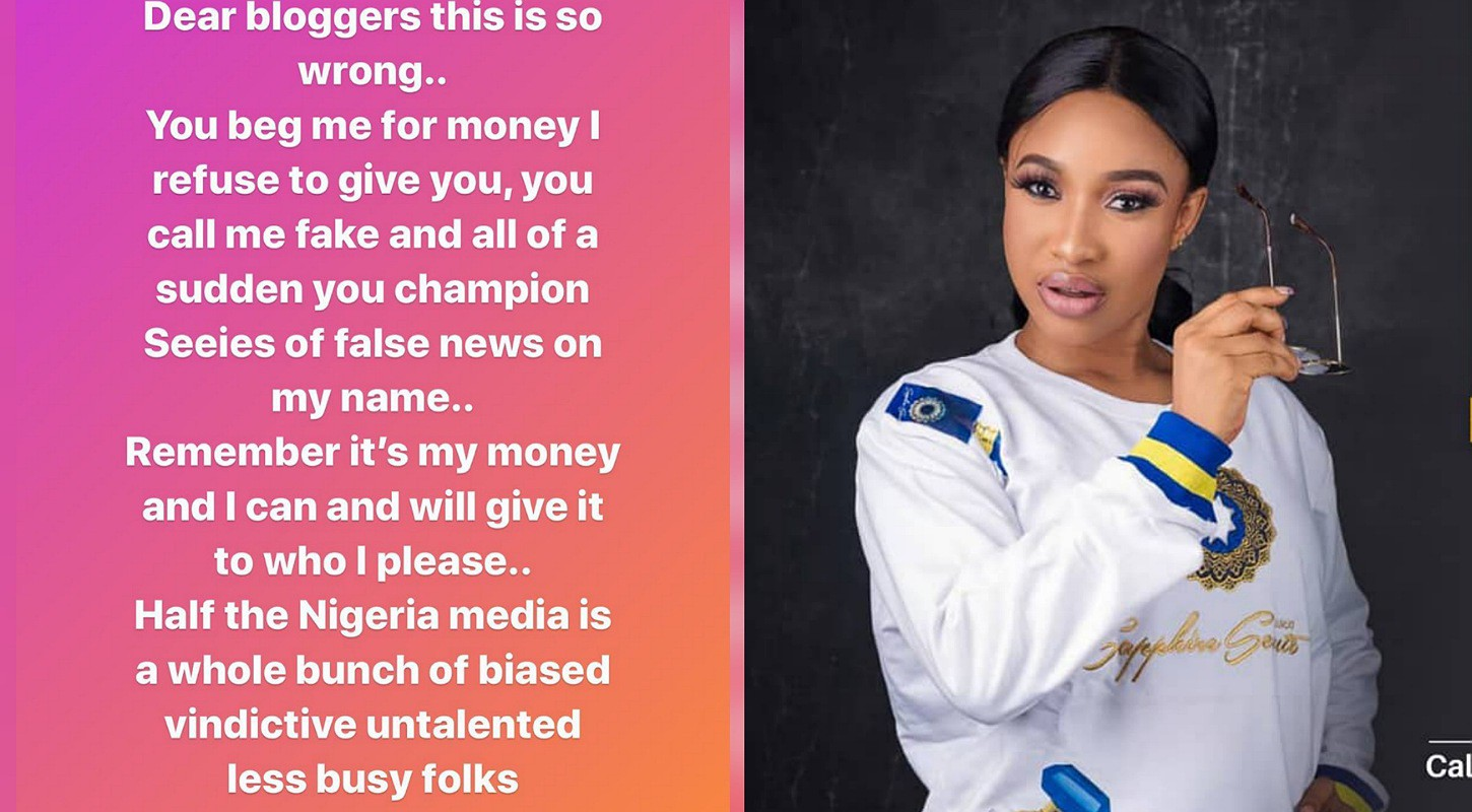 Tonto Dikeh isn't happy with those who broke out the news about her Dubai ordeal