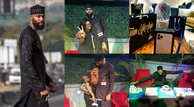BBNaija's Mike Abuja fans gift him iPhone 11 max and other valuable items