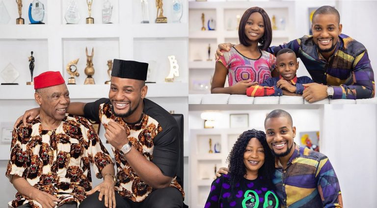 Nollywood actor Alex Ekubo shares photos of his parents and siblings