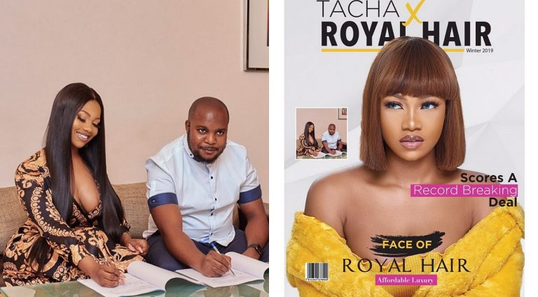 BBNaija's Tacha joins Mercy as Royal Hairs brand ambassador