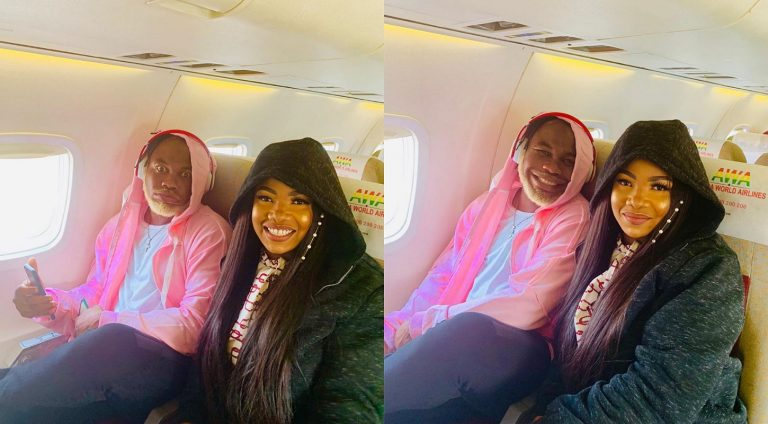 BBNaija's Tacha jets to Ghana with one of her top supporters, Slimcase