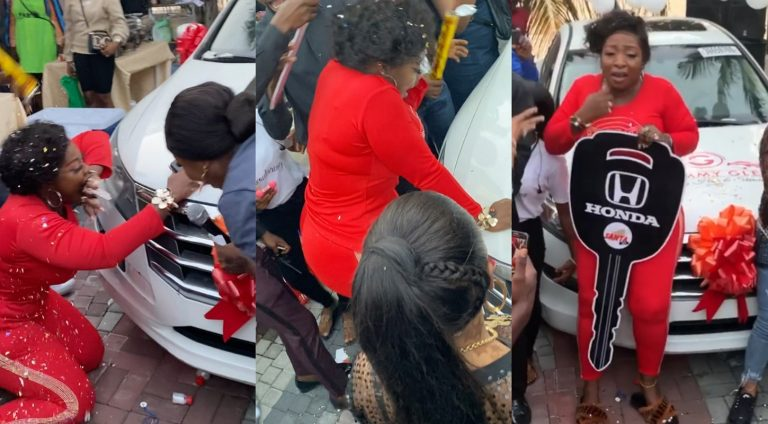 Anita Joseph in tears of joy after winning her first ever car from 'Glee Of Life' fair