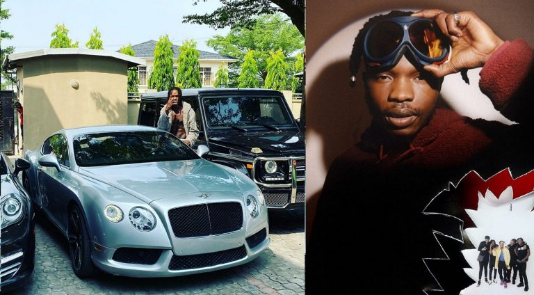 Hours after being accused of car theft, music star, Naira Marley shows off his luxury cars