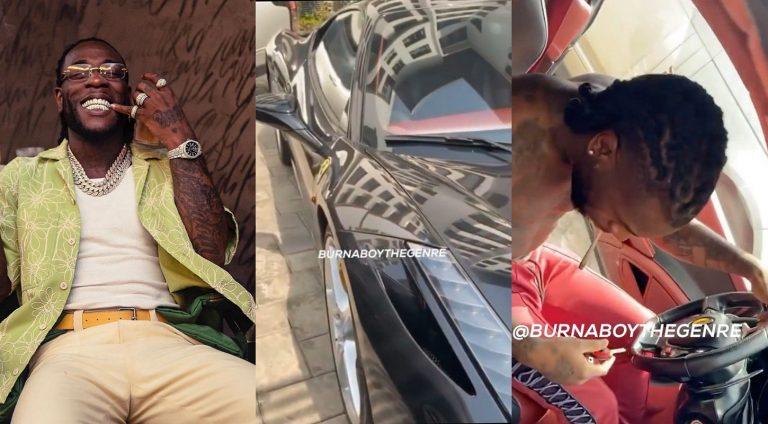 Burna Boy acquires new whip – Ferrari