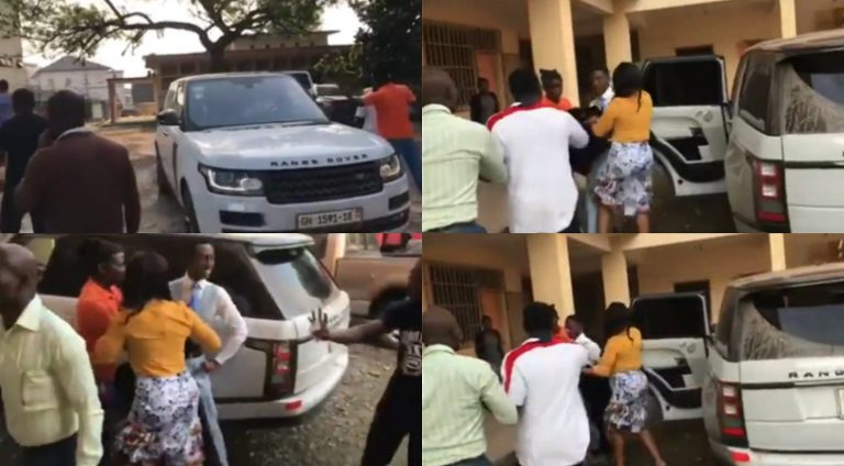 Church members demand for their tithes and offerings after seeing their pastor in a Range Rover