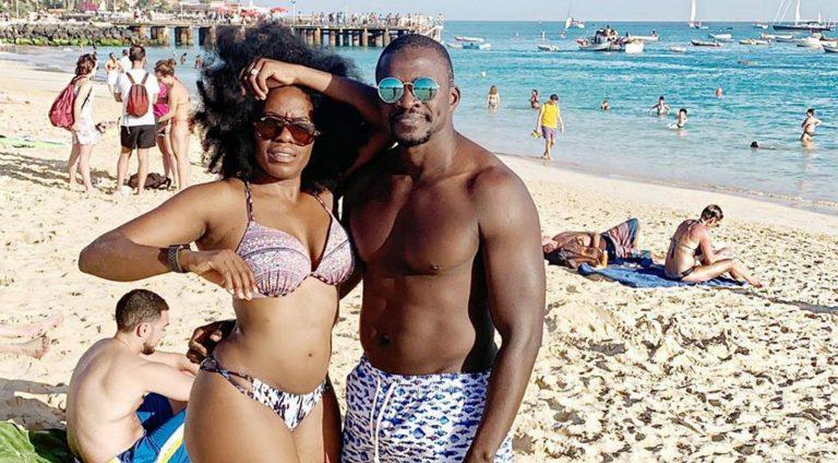 TV presenter, Shade Ladipo kicks off honeymoon with husband, Braimo a year after wedding