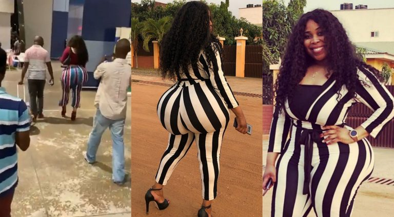 """Ghanaian lady who showed up at airport with gigantic """"Ikebe"""" finally opens up about the much-talked """"Ikebe"""""""