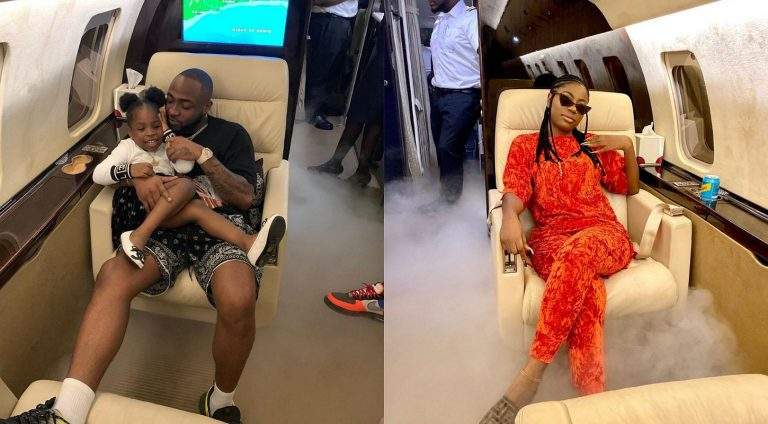 Davido takes his first babymama, Sophia and her daughter, Imade on Ghana vacation