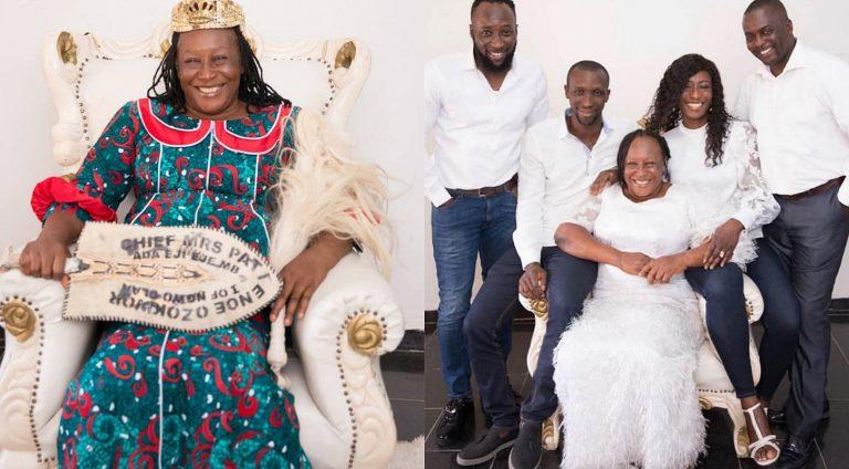Veteran actress, Patience Ozokwor shares adorable photos of her children