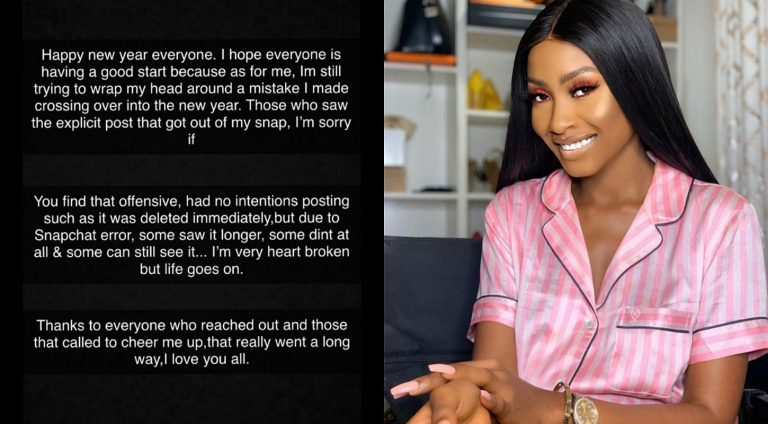 Actress Ronke Tiamiyu apologizes for mistakenly sharing a video of her masturbating on Snapchat