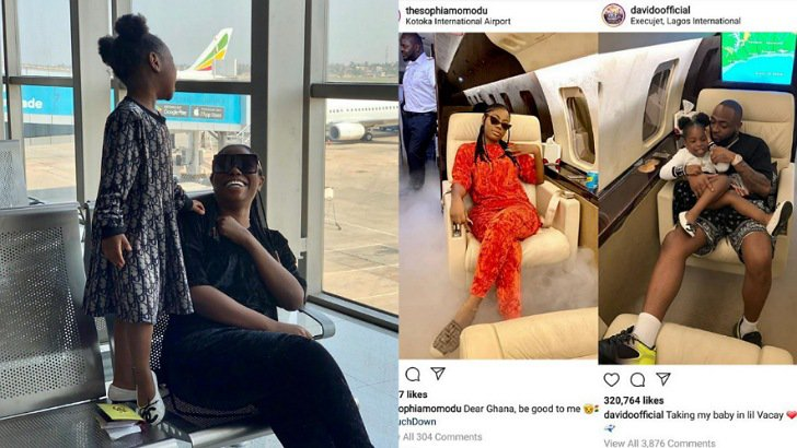 Davido denies taking his first babymama, Sophia and her daughter, Imade to Ghana vacation