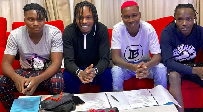 Music star, Naira Marley signs four artistes including Zinoleesky into his Marlian Records