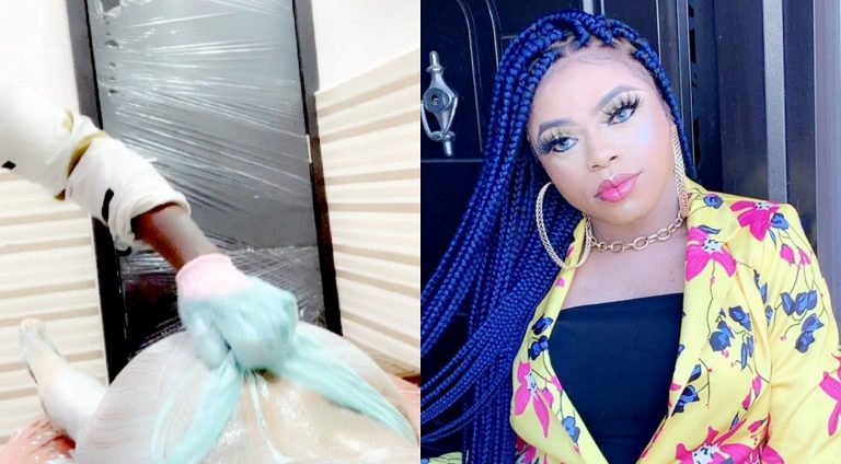 Bobrisky shares video of her doctor scrubbing his newly fixed 'bum bum'