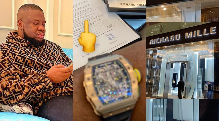 Hushpuppi buys Richard Mille wristwatch at lavishing sum of N90m