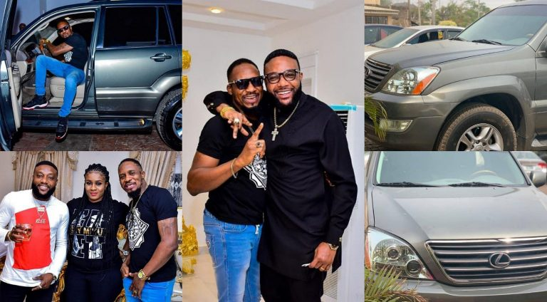 Actor Junior Pope receives car gift from Kcee and his brother, E-money