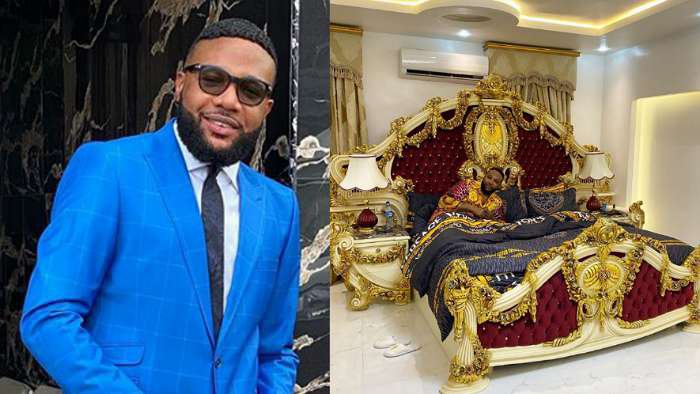 Businessman, E-money comes under fire after sharing his new luxury bed which critics say looks like shrine