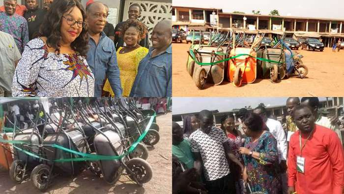 Transition Chairperson gifts out wheelbarrow on hire purchase in Nsukka LG, Enugu State