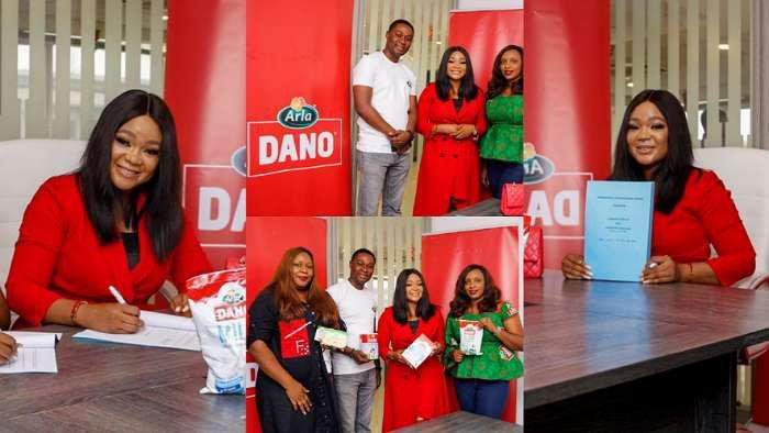 Actress, Rachael Okonkwo renews her contract with Dano Milk