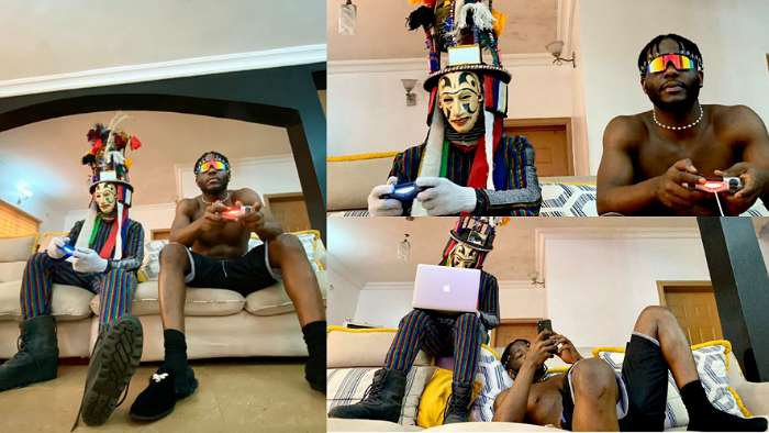 Rapper, Zoro enjoys Sunday with his dazzling masquerade in sitting room