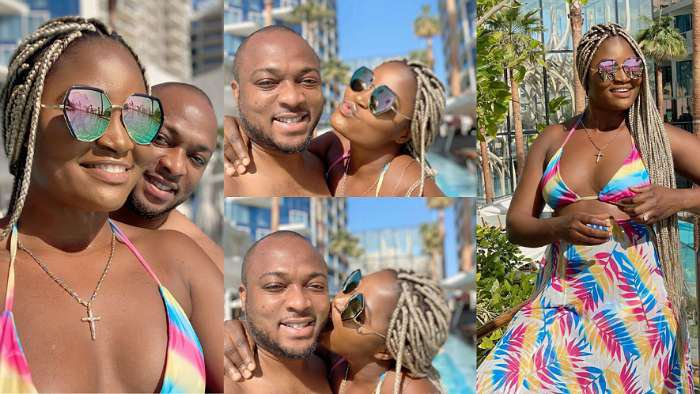 Newly married actress, Chizzy Alichi spotted having fun with husband, Chike on honeymoon