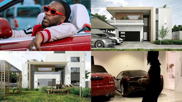 Grammy nominated singer, Burna Boy shows off his newly acquired mansion