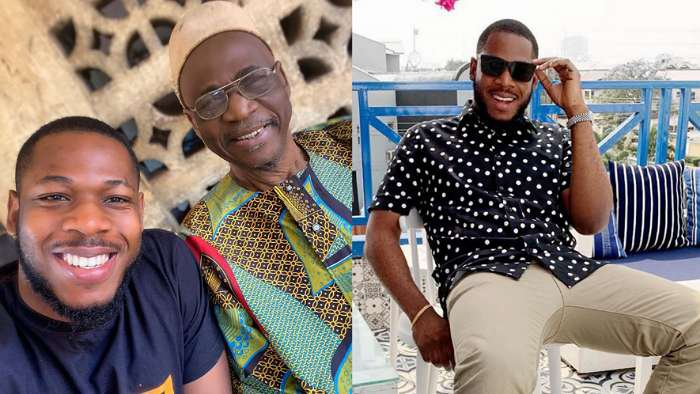 BBNaija's Frodd twins in a selfie with his grand pa (photo)