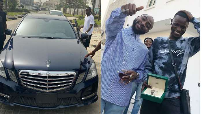 Davido's Personal Assistant, Aloma buys himself a Benz