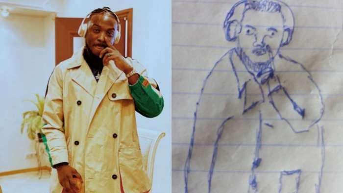 Dog will bite that your career – Singer, Peruzzi tells artist who drew a hilarious pen portrait of him
