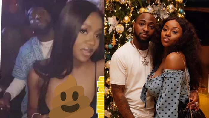 Davido middle-fingers haters over break up rumour as he rocks fiancee, Chioma in a party (video)
