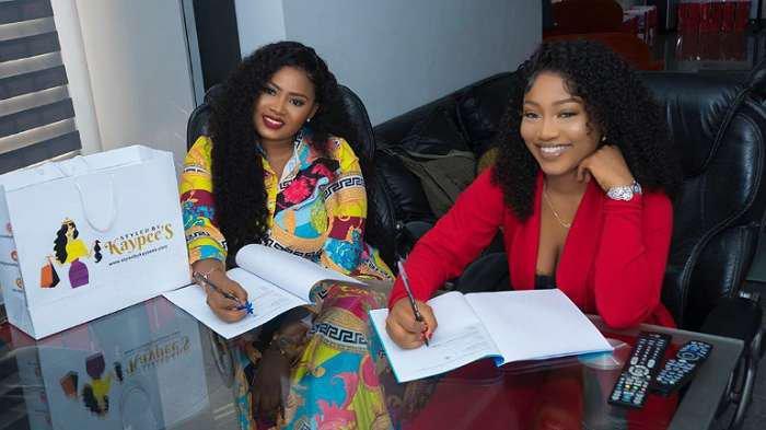 BBNaija star, Esther signs multi million naira deal with luxury hair brand, KayPee