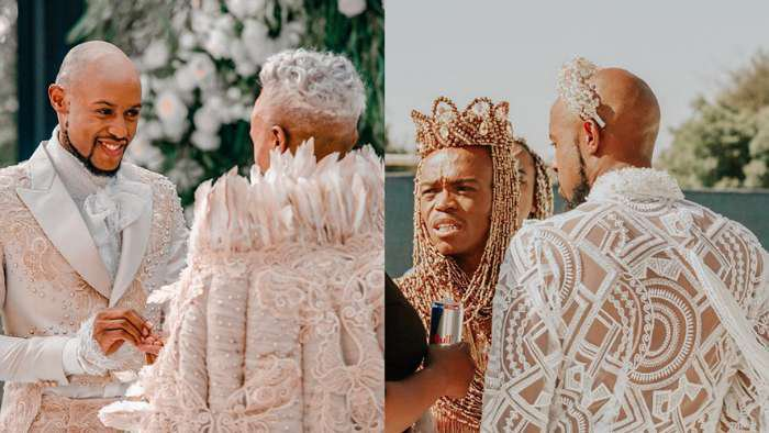 South African gay media personality, Somizi ties the knot with his partner, Mohale (photos)